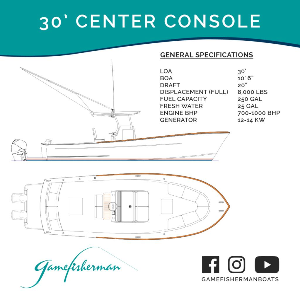 30' Center Console Specs